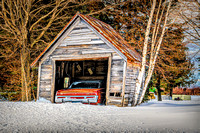 Antique Car and Old Shed