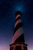Cape Hatteras Lighthouse and Stars